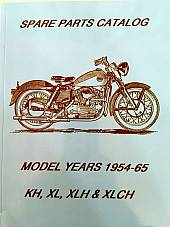 Harley Parts Manual Catalog Book 1954 to 1966 K-Model & Sportster KH KHK XLCH XL