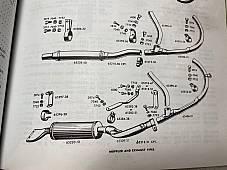 Harley RL WL WLA WLC Muffler Clamp Kit W/ CP-1038 Bolts 1948-52 65286-32