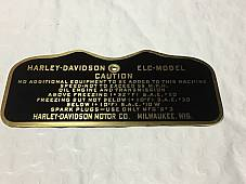 Harley Canadian ELC Military Data Plate Tank Nomenclature Tag WWII 1942-43