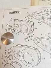 Harley 60564-65 Primary Inspection Plug 65-66 Electra-Glide Panhead Shovelhead