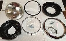 Harley FL FLH Headlamp Kit 1960-1984 12V Shovelhead Panhead Electra-Glide