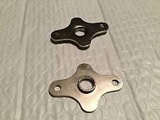 Harley JD & Single Kicker Pedal End Plates Nickel OEM 2098-17 1917-28 USA