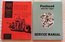 Harley Panhead Parts Book Service Manual Combo 1948-1957