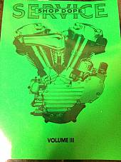 Harley Shop Dope Vol 3 Service Manual 1941-1956 Knucklehead Panhead K Hummer