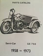 Harley Parts Manual Catalog Book 1958 to 1973 45 Servicar Police Equipment