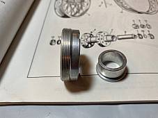 Harley 41201-55 K-Model Sportster Rear Wheel Bearing Lock Nut Kit 1955-78  USA
