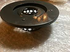 """Harley 6"""" Air Cleaner Back Plate Parkerized VL Knucklehead Screw Type 1935-36"""