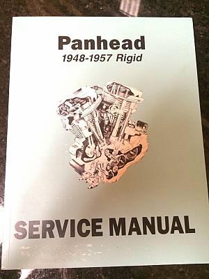 Harley EL FL FLH Service Manual 1948 to 1957 Panhead Rigid HydraGlide NEW