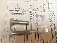 Harley 45753-50 Adjustable Fork Bolts & Locks 50-84 Panhead Servicar Sidecar