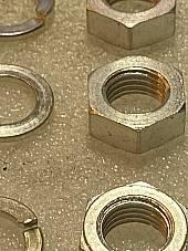 Harley 0136 7831 Knucklehead Rocker Shaft Nuts & Washers 1936-47 Cad USA
