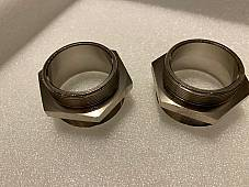 Harley  J JD 74 Manifold Inlet Intake Nipples Nickel 1923-29 OEM# 1112-23 USA
