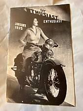 Harley Enthusiast Model Intro Issue 1935 Models Jan 1935 RL VL Servicar