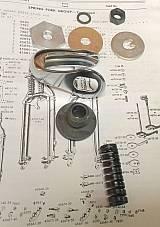 Harley 45 Solo Chrome WL Servi Steering Damper Rebuild Parts Kit 37-57 Dampener