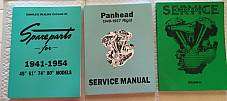 Harley Panhead Parts Book Service Manual & Shop Dope 3 Combo '48-'54