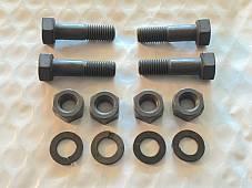 """Harley 5/16""""-24 x 1 1/8"""" Bolts w/ Nuts & Lock Washers x 4 OEM 066A Plain Head"""