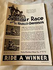 Harley Enthusiast Model Intro Issue 1934 Models Aug 1933 RL VL Servicar Single
