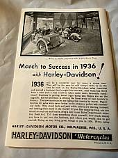 Harley Enthusiast Model Intro Issue 1936 Models Jan 1936 RL VL VLH Servicar