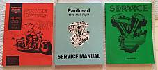 Harley Panhead 48-57 Parts Book Service Manual & Shop Dope 3 Combo '48-'57