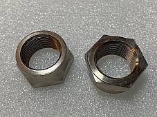 Harley JD Front Hub Cone Nuts Axle 1916-1920 Nickel Replaces OEM# 3929-16 USA