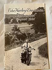 Harley Enthusiast Model Intro Issue 1932 Models Aug 1931 DL 21 Single V VL