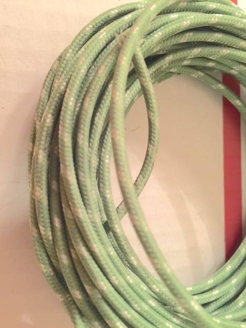 Knucklehead Panhead Harley Cloth Covered Green 16 ga Wiring Wire 25 Ft