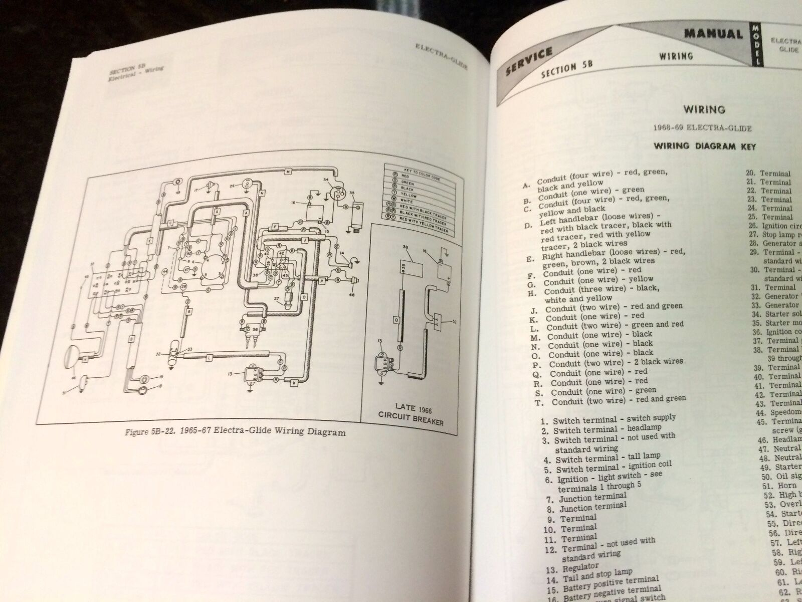 Harley Fl Flh Service Manual 1959 To 1969 Panhead Shovelhead Electra Street Glide Throttle Wiring Diagram Electraglide