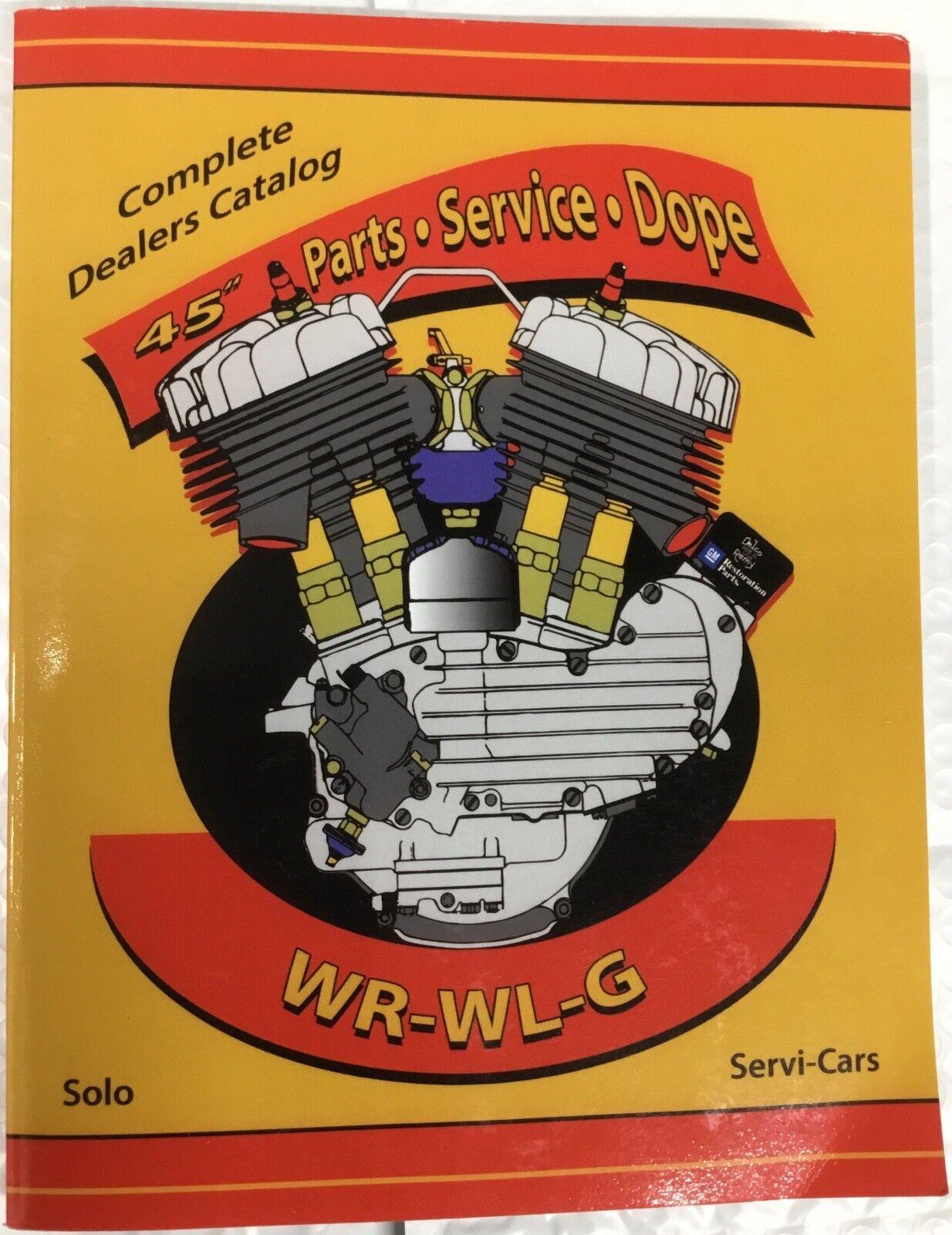 Harley Wl Wr Servicar Service Parts Tuning Manual 1937 Up Davidson Servi Car Wiring Diagram 1937up