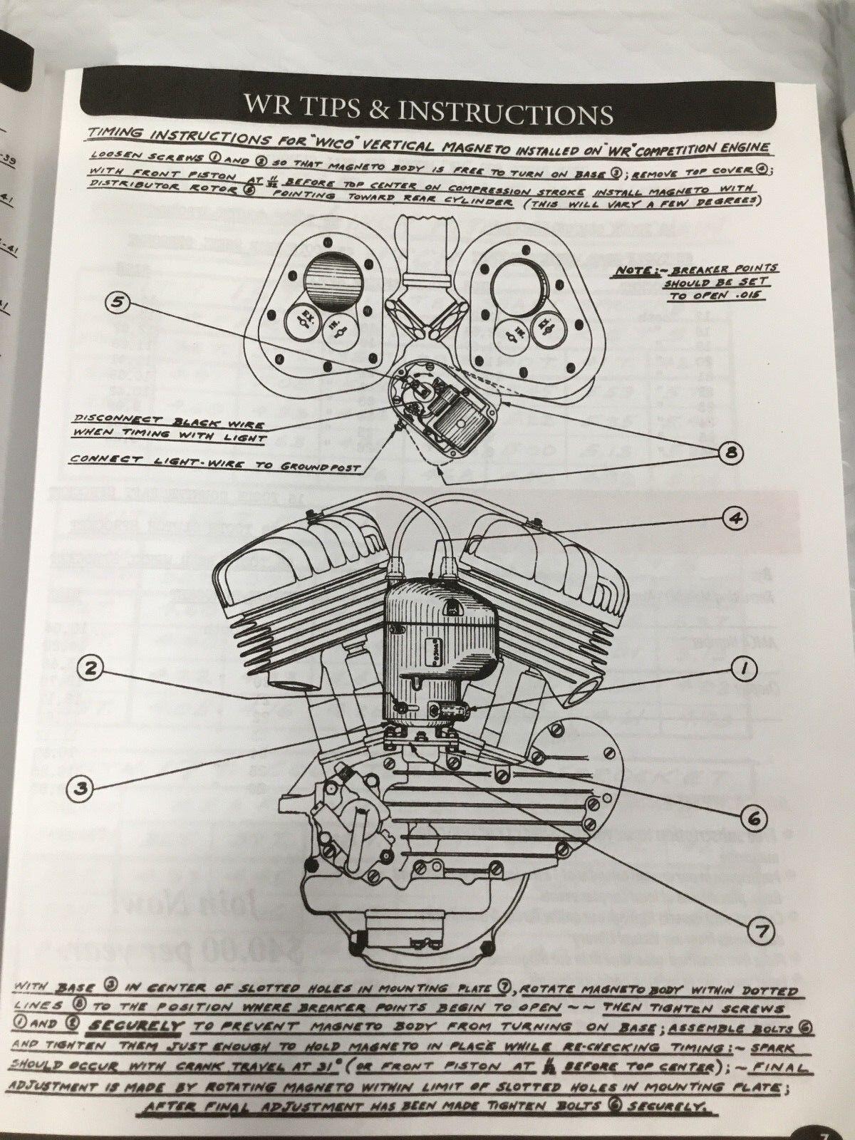 ... Harley WL WR Servicar Service, Parts, & Tuning Manual 1937Up ...