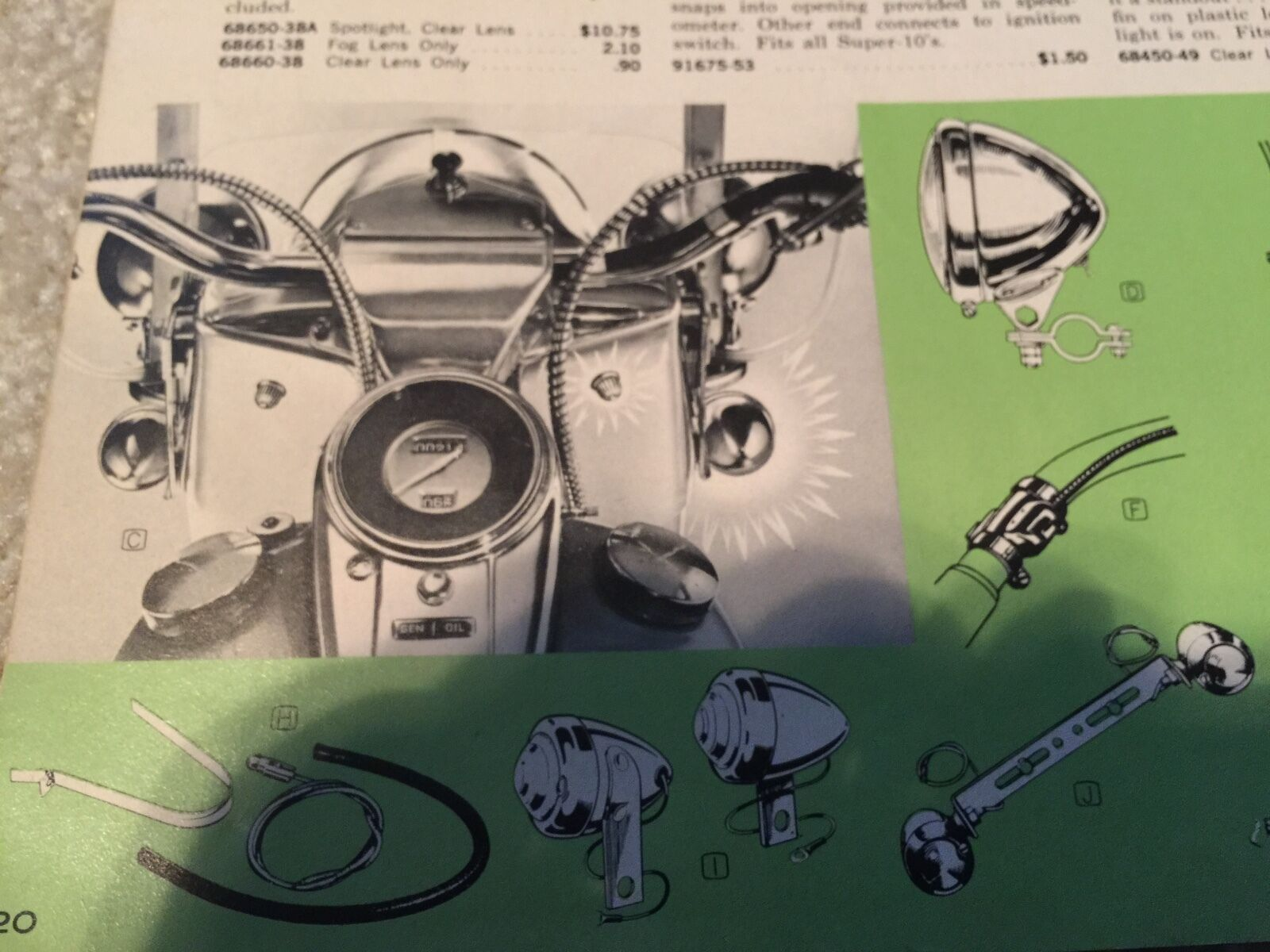 Harley Guide Dh 49 Bullet Lamp Turn Signal Kit 36 61 Panhead Cycle Electrics Wiring Diagram Dh49 3661 Knucklehead 6v