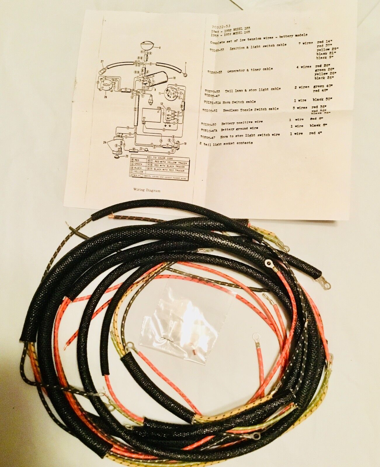 buick stereo wire harness 1948 buick wire harness harley 70322-53 complete hummer 1948-59 wiring harness ...