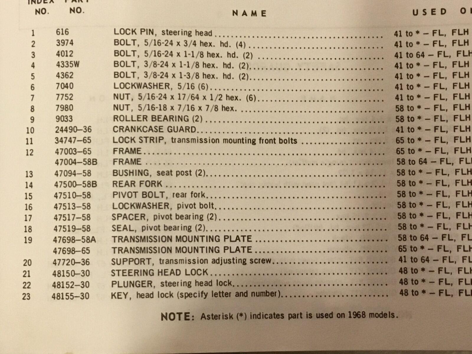 Harley Big Twin Neck Fork Lock Kit 1948-70 Panhead UL Shovelhead 48150-30